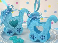 Adorable Blue Baby Carriage Bag Favours
